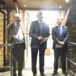 Ide Hill Community Shop Opening with (l to r) Richard French, Andy Edmonds and Michael
