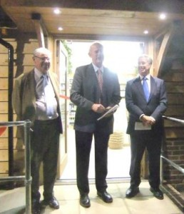 Community shop opening with (l to r) Richard French, Andy Edmonds and Michael