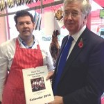 Norman's Butchers, Eynsford with the 2014 Calendar: Hunt the Sausage