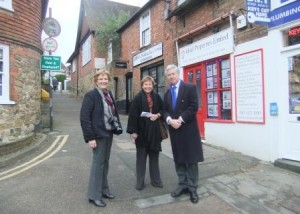 Westerham Small Business Day with Cllr Fiona Ogden and Jane Hunter from the Westerham Town Partnership