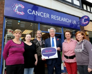 Volunteers and staff at Cancer Research UK, Sevenoaks