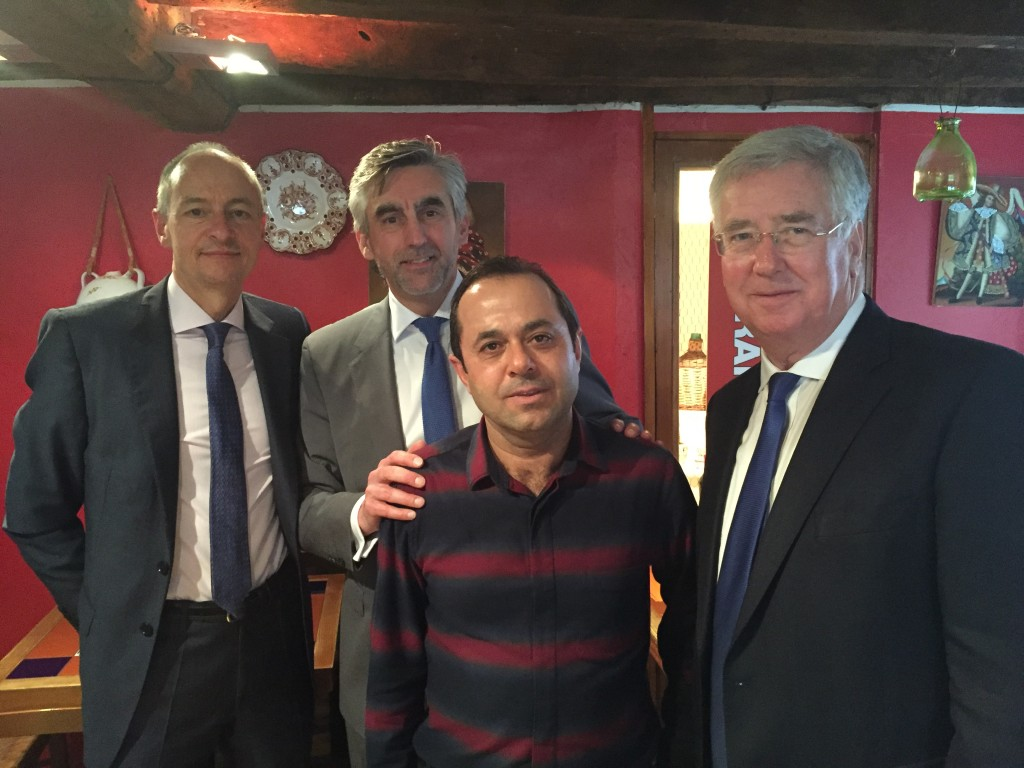 Meeting with Sevenoaks Chamber of Commerce (Nick Brooker, Mark Tuvey and Salih Yalman owner of Sopranos Italian Restaurant).