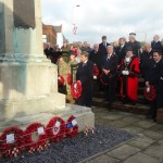 Remembrance Day service at the Swanley War Memorial.