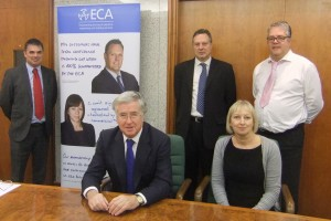 Darren Wetherill, Regional Chairman ECA South East Region and Managing Director of DW Electrical Limited Philip Hamblett, ECA Eastbourne Branch Chairman and Contracts Manager of N. Smith Electrical Limited Carolyn Mason, ECA Head of Education & Training, and Kevin Bush, ECA Regional Manager, South East region