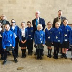 Welcoming pupils from Hextable Primary School to Parliament.