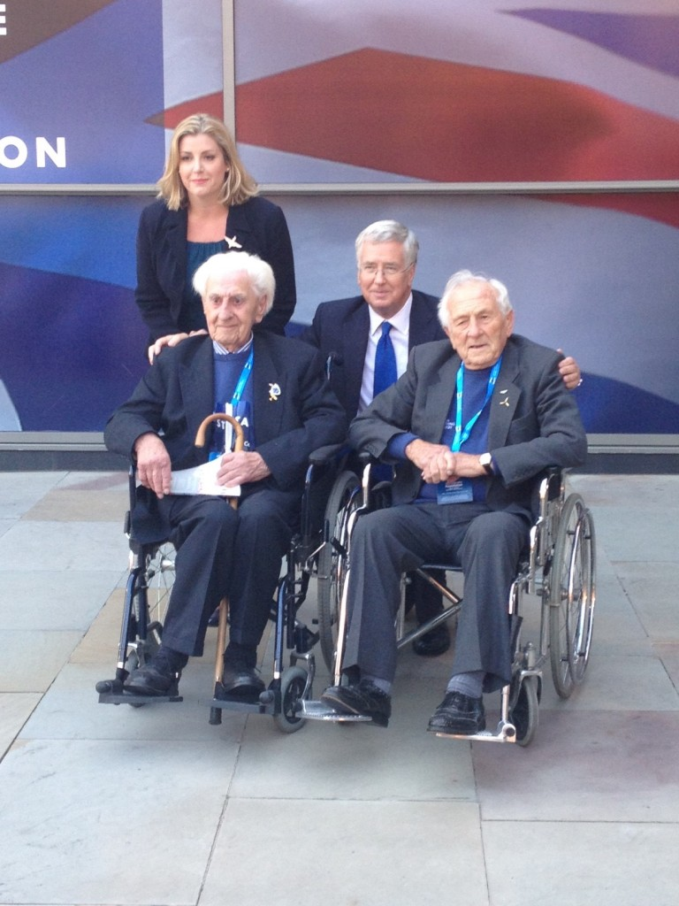 With Fg Off Kenneth Wilkinson, Sqn Ldr Tony Pickering and Penny Mordaunt MP at Conservative Party Conference.