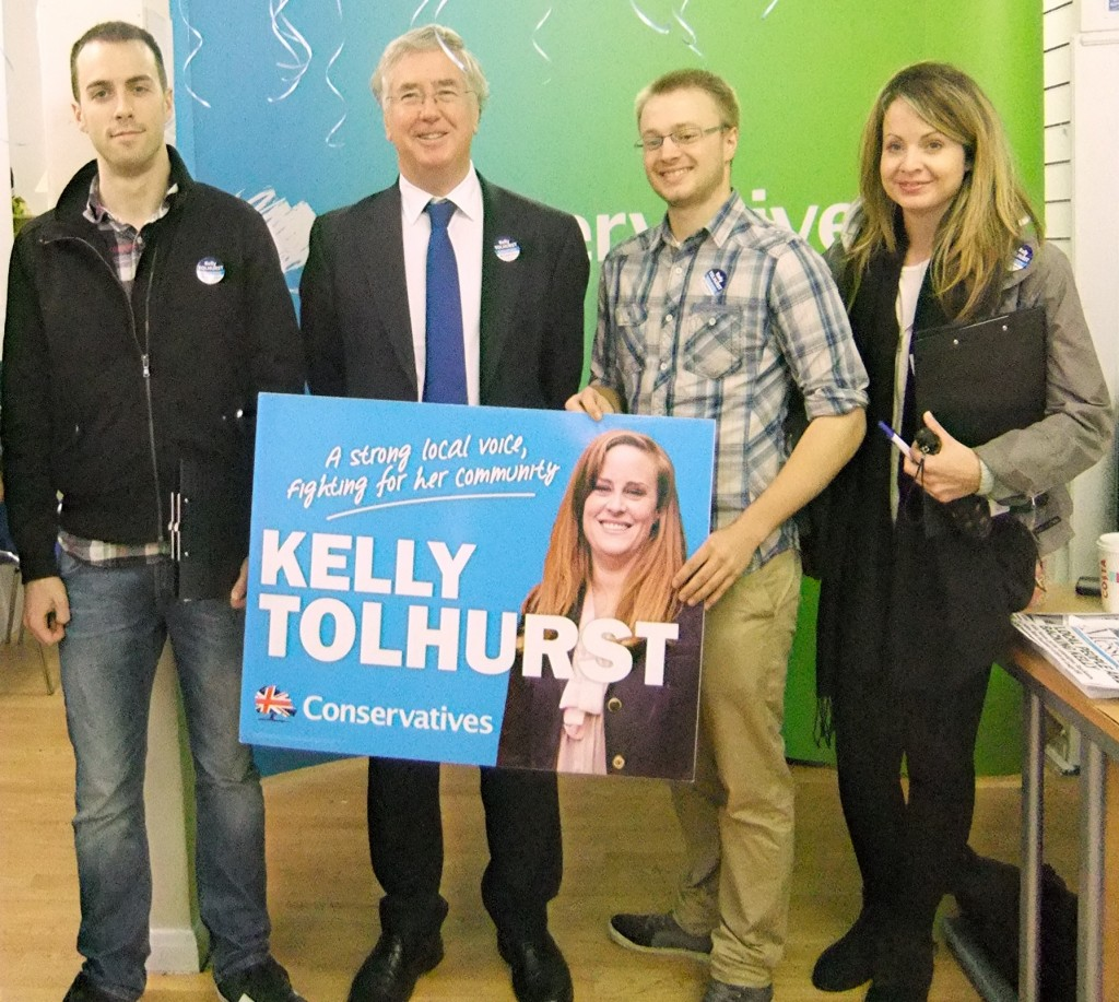 Supporting Kelly Tolhurst at the Rochester by-election