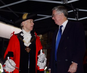 Michael with Town Mayor Cllr Simon Raikes