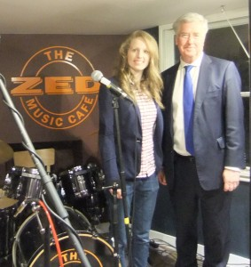 With Zoe Ashfield, owner of  Zed Music Café