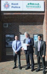 Michael with Christian Everett and Dr Pav Ramewal - Handing  in his General Election 2015 Nomination Papers