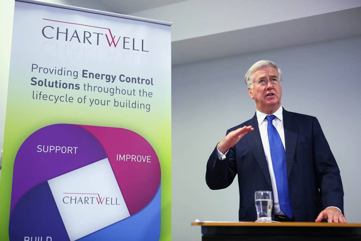 Chartwell opening event Michael Fallon MP delivers a keynote speech