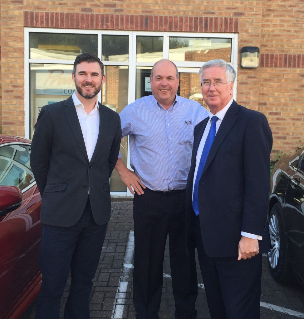 Michael Fallon with Anthony Ward and Louis Finlayson-Green