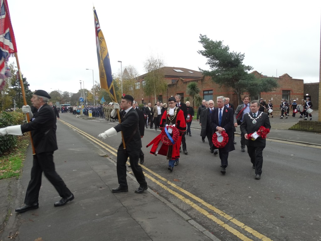 Remembrance Day Parade through Swanley to the War Memorial.