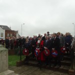 Laying of the wreaths at Swanley War Memorial.