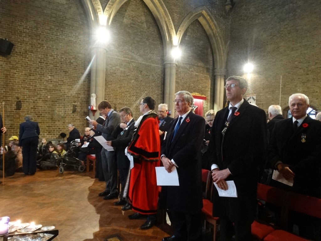 Remembrance Day service in St. Mary's Church.
