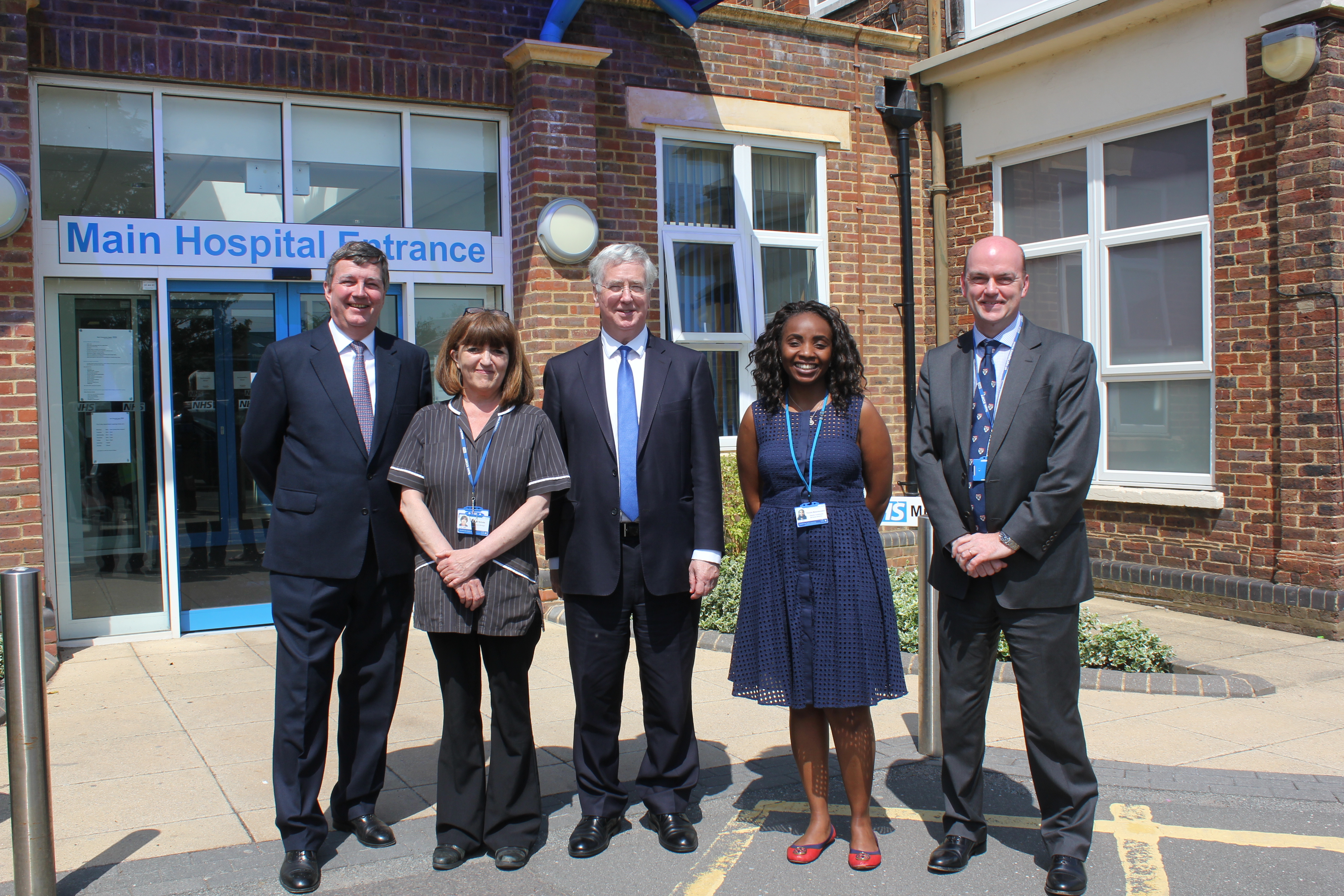 Michael with representatives from the hospital and Kent Community Health NHS Foundation Trust.