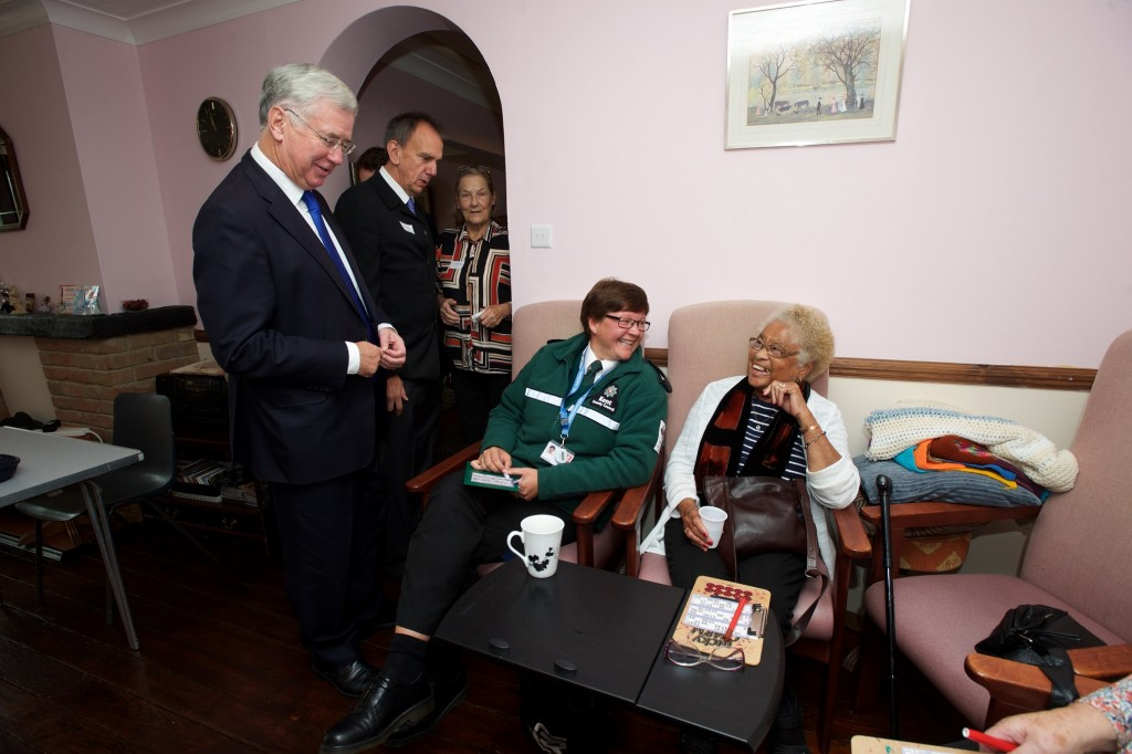 Michael Fallon Kent with Community Warden Jackie West and Amy Clarke