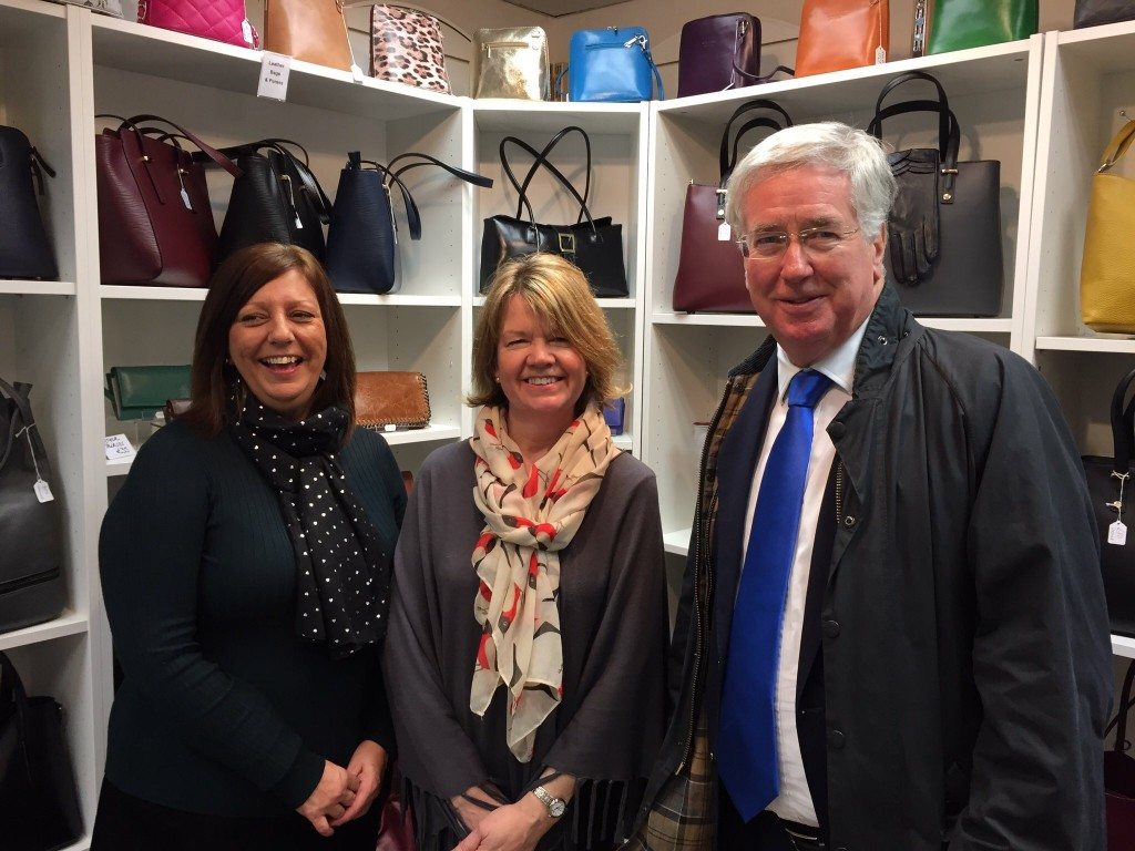 Sir Michael Fallon Graces Fashion Accessories
