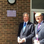 Michael's plaque on the new Centre