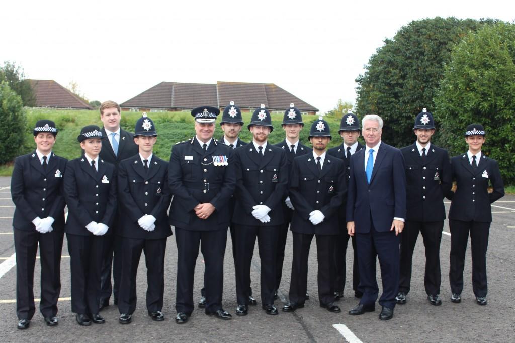 Michael with the Sevenoaks recruits.