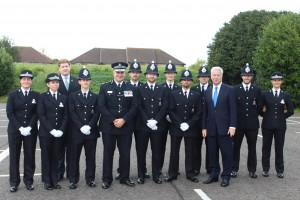 Michael with the Sevenoaks recruits.